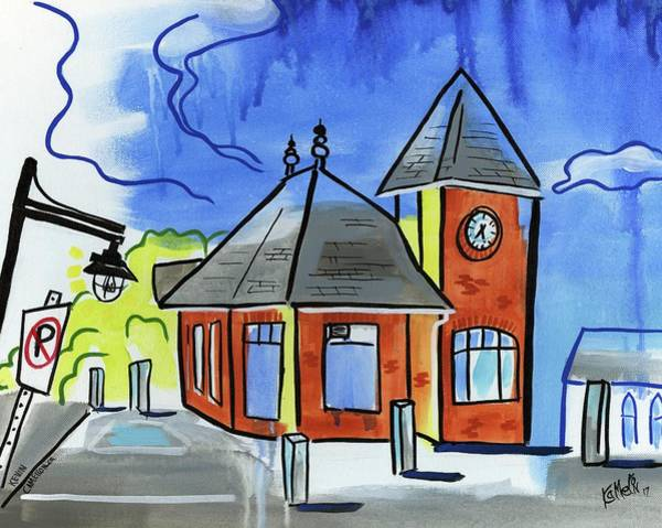 Wall Art - Painting - Train Stop by Kevin Cameron