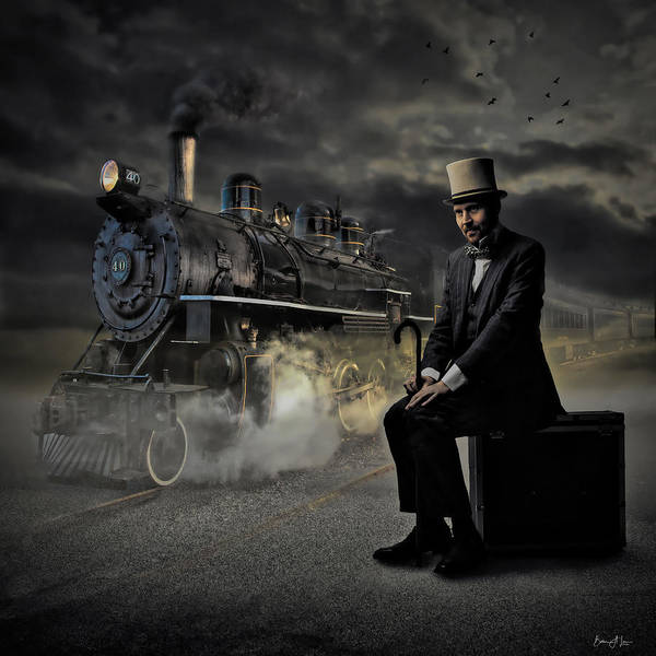 Digital Art - Train To Nowhere by Barbara A Lane