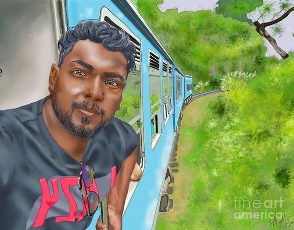 Wall Art - Digital Art - Train To Sri Lanka by William Bryant