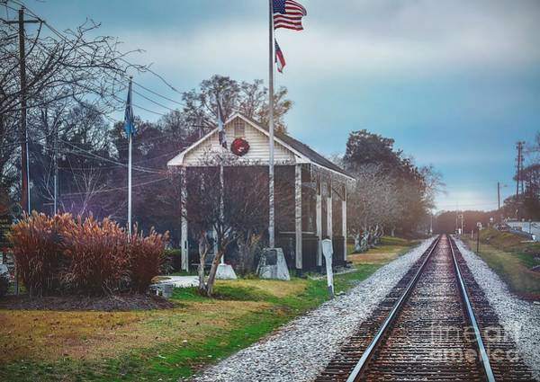 Conyers Photograph - Train Tracks To Old Town by Cory Brewington