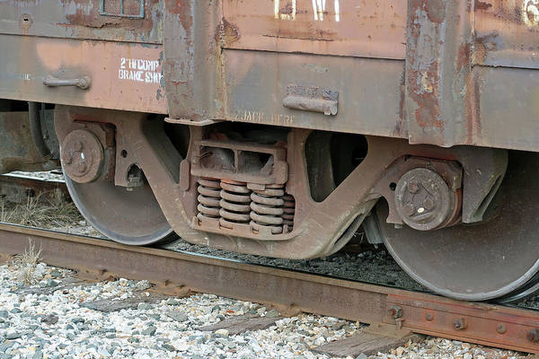 Photograph - Train Wheels On Track by Connie Fox