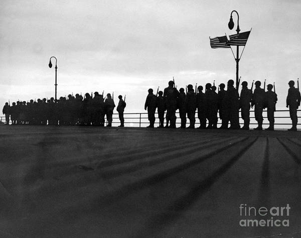 Rifle Photograph - Trainees For The Army Air Force by New York Daily News Archive
