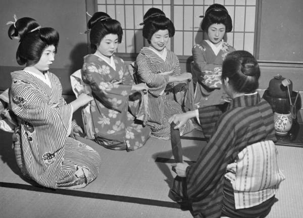 Learning Photograph - Training Geishas by Central Press