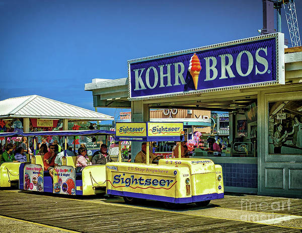 Photograph - Tram Car On The Boardwalk by Nick Zelinsky