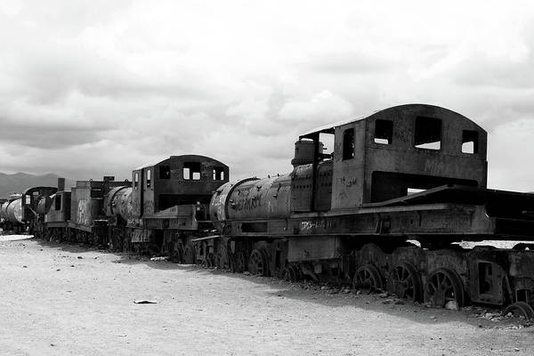 Photograph - Train Graveyard, Uyuni, Bolivia by Aidan Moran