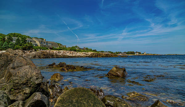 Kennebunkport Maine Photograph - Tranquil Blues Day Kennebunkport by Betsy Knapp