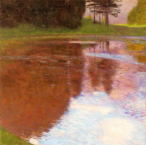 Wall Art - Painting - Tranquil Pond - Digital Remastered Edition by Gustav Klimt