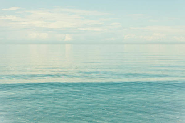 Wave Photograph - Tranquil Sea by Mmeemil