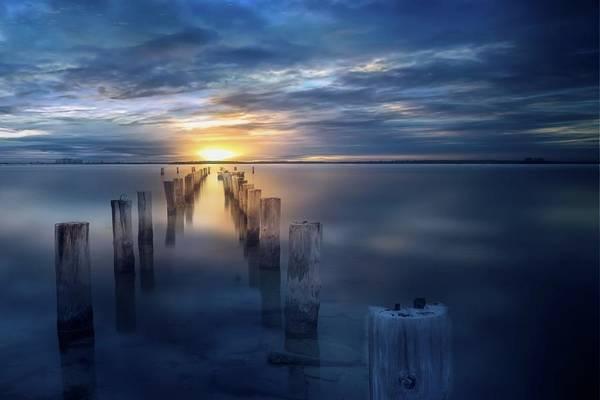Cedar Key Photograph - Tranquil Sunset by Louis Ferreira