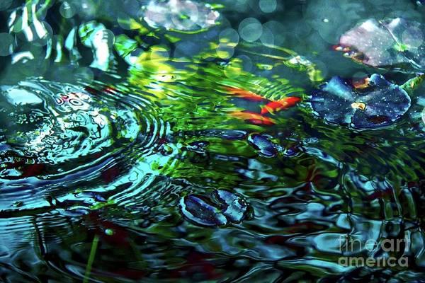 Mixed Media - Tranquil Water Ripples by Jolanta Anna Karolska