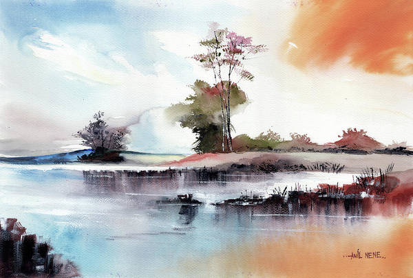 Painting - Tranquil2 by Anil Nene
