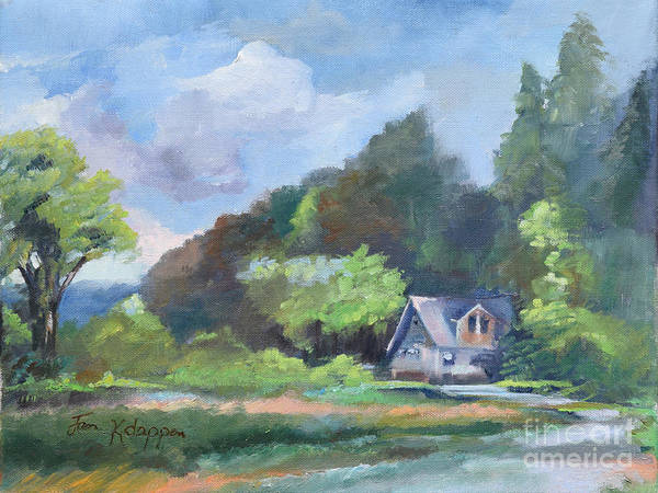 Painting - Tranquility Near The Park - Ellijay, Ga - En Plein Air by Jan Dappen