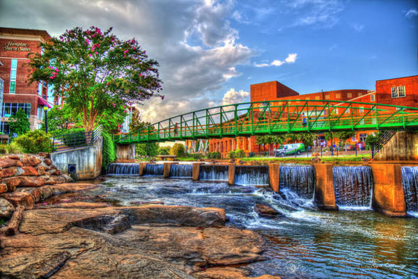 Photograph - Tranquility Reedy River Downtown Greenville South Carolina Art by Reid Callaway