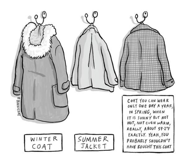 Summer Drawing - Trans-seasonal Coat by Becky Barnicoat