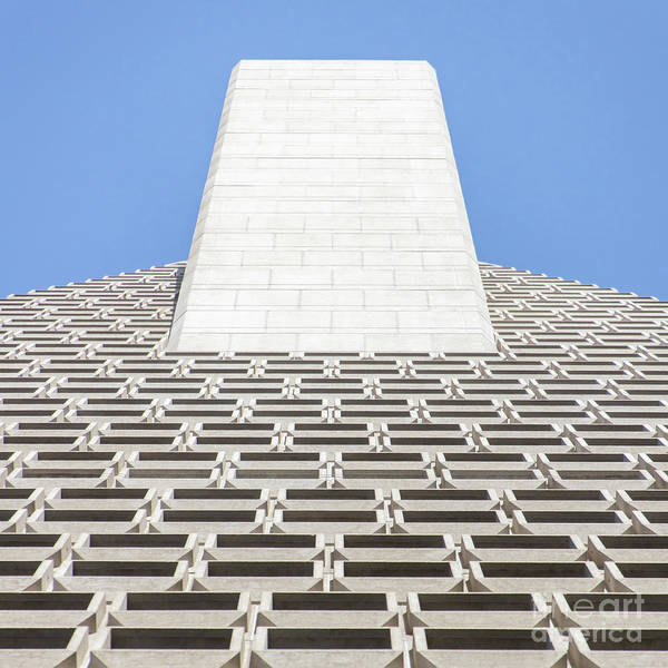 Photograph - Transamerica Pyramid In San Francisco Abstract Geometry Details R730 Sq by Wingsdomain Art and Photography