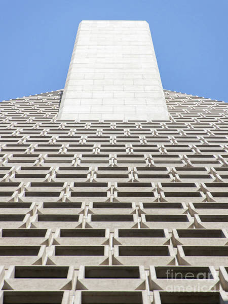 Photograph - Transamerica Pyramid In San Francisco Abstract Geometry Details R730 by Wingsdomain Art and Photography