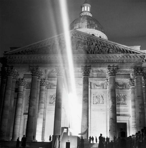 Pantheon Wall Art - Photograph - Transfer Of Jean Moulin S Ashes To The by Keystone-france