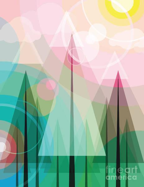 Cubist Wall Art - Digital Art - Transparent Forest by Artplay
