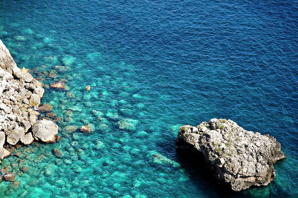 Transparent Italian Sea In Capri Art Print