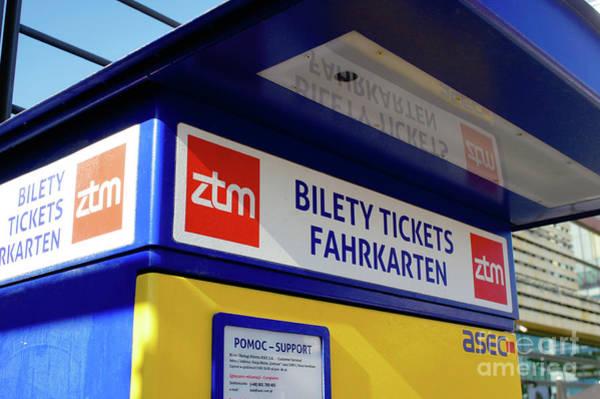 Wall Art - Photograph - Transport Ticket Machine In Warsaw by Tom Gowanlock