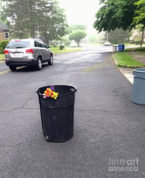 Wall Art - Photograph - Trash Day Road Bouquet  by Steven Digman