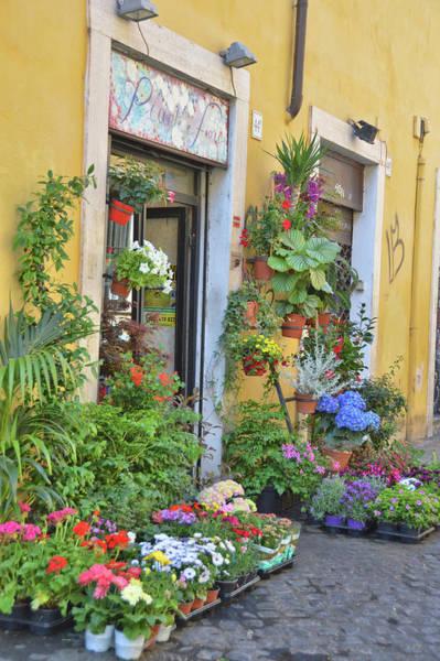 Photograph - Trastevere Flower Shop by JAMART Photography