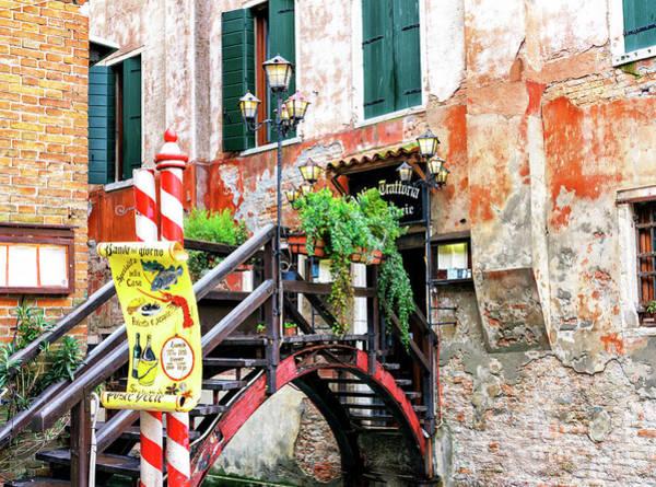 Photograph - Trattoria In Venice by John Rizzuto