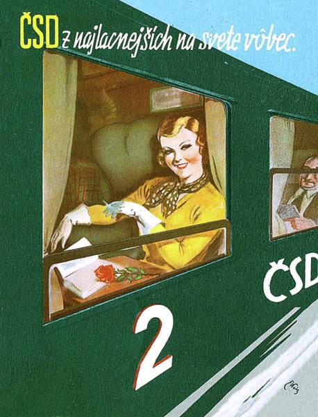 Eastern Europe Digital Art - Travel By Train To Czechoslovakia by Long Shot