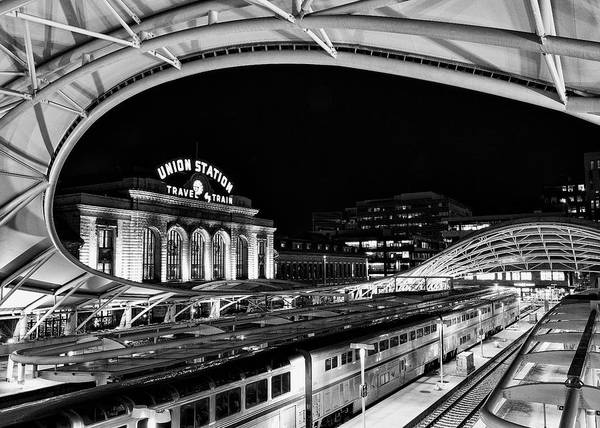 Wall Art - Photograph - Travel By Train - Union Station Denver by Stephen Stookey