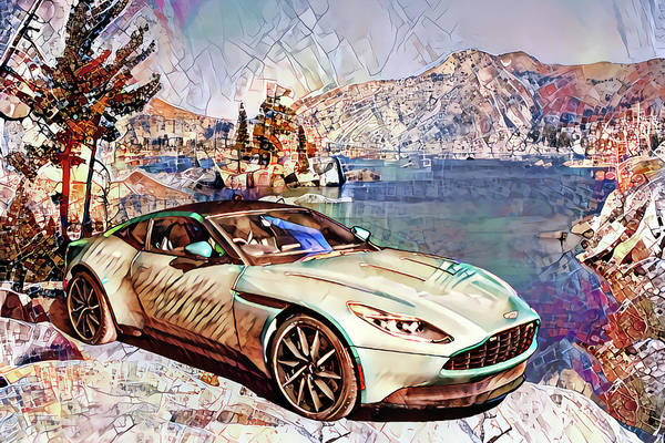 Wall Art - Digital Art - Travel In Style Collection - II by Artly Studio