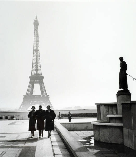 Famous People Photograph - Travel. Paris, France. 1954. People by Popperfoto