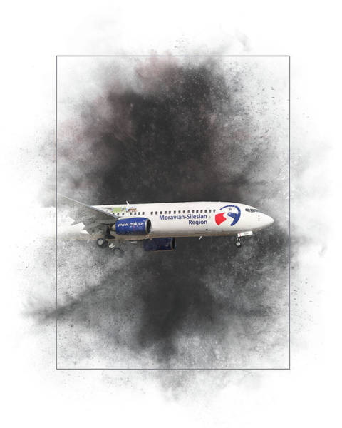 Wall Art - Mixed Media - Travel Service Boeing 737-8cx Painting by Smart Aviation
