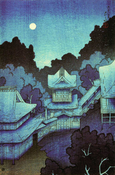 Wall Art - Painting - Travel Souvenir First Collection, Mountain Temple, Sendai - Digital Remastered Edition by Kawase Hasui