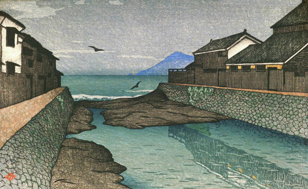 Wall Art - Painting - Travel Souvenir First Collection, Obama, Hori River - Digital Remastered Edition by Kawase Hasui