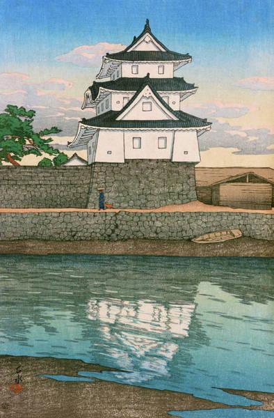 Wall Art - Painting - Travel Souvenir Second Collection, Sanuki, Takamatsu Castle - Digital Remastered Edition by Kawase Hasui