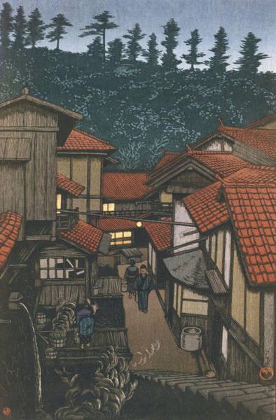 Wall Art - Painting - Travel Souvenir Third Collection, Iwami, Arifuku Spa - Digital Remastered Edition by Kawase Hasui