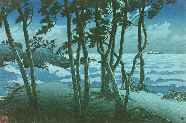 Wall Art - Painting - Travel Souvenir Third Collection, Izumo, Hinomisaki - Digital Remastered Edition by Kawase Hasui