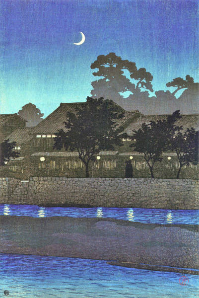 Wall Art - Painting - Travel Souvenir First Collection, Nagare Pleasure Quarter, Kanazawa - Digital Remastered Edition by Kawase Hasui