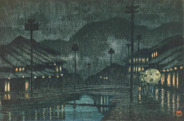 Wall Art - Painting - Travel Souvenir Third Collection, Tajima, Kinosaki Spa - Digital Remastered Edition by Kawase Hasui