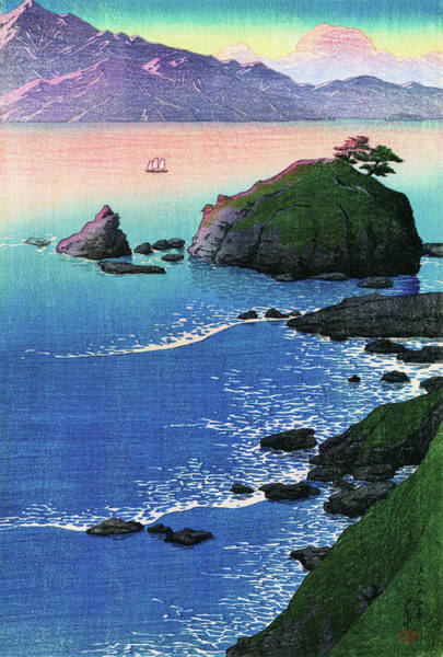 Wall Art - Painting - Travel Souvenir First Collection, Wakasa, The Beach Of Kude - Digital Remastered Edition by Kawase Hasui