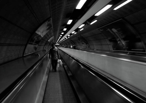 Art Print featuring the photograph Travelator  by Edward Lee