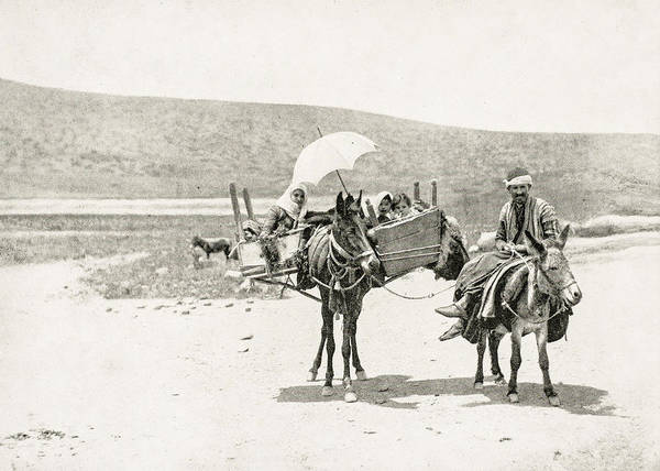 Wall Art - Photograph - Traveling In Galilee 1894 by Munir Alawi