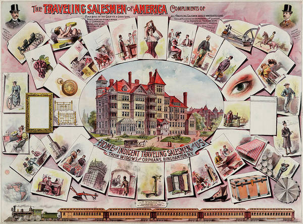 Wall Art - Mixed Media - Traveling Salemen Of America Poster 1885 by Library Of Congress