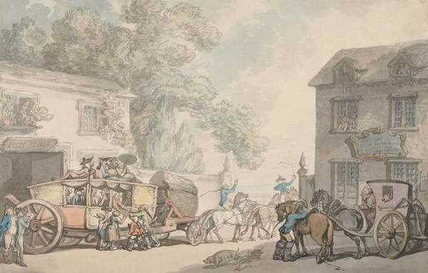Drawing - Travelling In France by Thomas Rowlandson