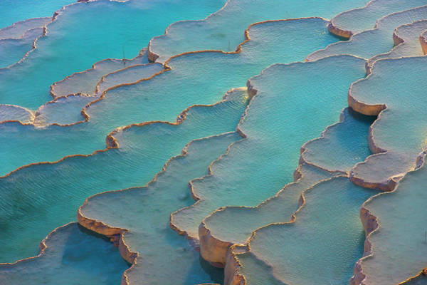 Wall Art - Photograph - Travertine Terraces Of Pamukkale by Keren Su