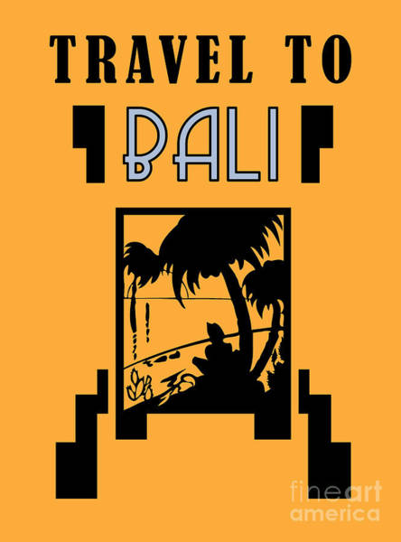 Drawing - Travrl To Bali by Aapshop