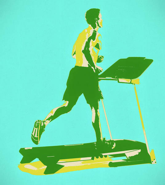 Painting - Treadmill Exercise Pop Art by Dan Sproul