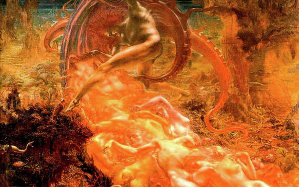 Wall Art - Painting - Treasures Of Satan by Jean Delville