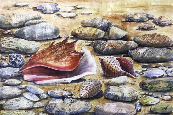 Painting - Treasures Of The Sea by Katerina Kovatcheva