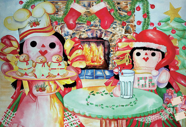Painting - Treats For Santa Clause by Kandyce Waltensperger